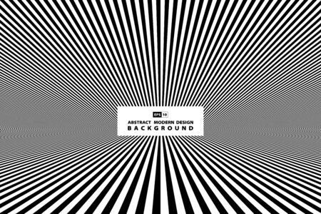 Abstract black and white line of perspective cover background.