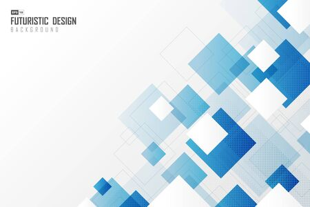 Abstract gradient blur square tech design technology pattern background.