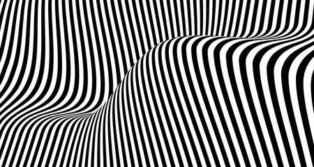 Abstract black and white line pattern design mesh artwork background. Use for poster, template design, artwork. illustration vector eps10 Векторная Иллюстрация