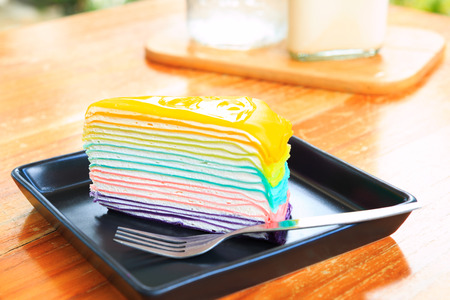 crepe: Crepe Cake Stock Photo