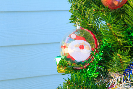 silhouettable: Santa Claus in baubles on chrismas tree,santa