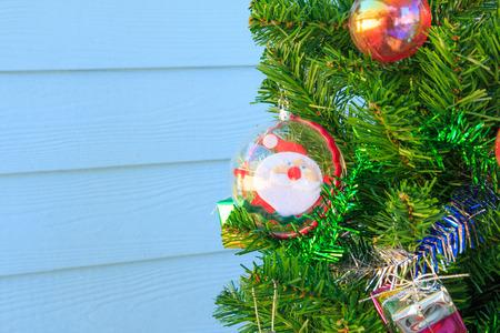 silhouettable: Santa Claus in baubles on chrismas tree,santa