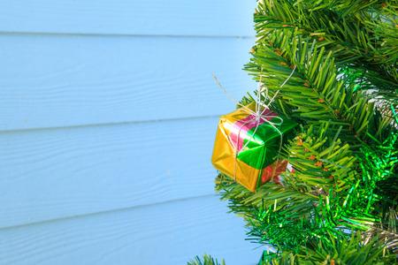 chrismas: Gift box on chrismas tree