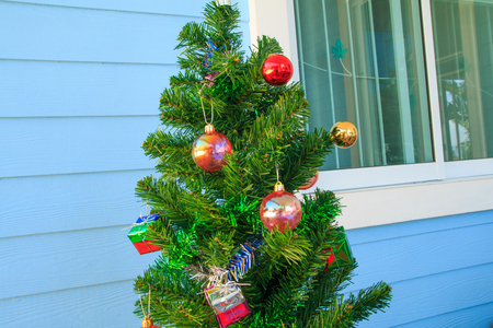 silhouettable: christmas decorations  on chrismas tree