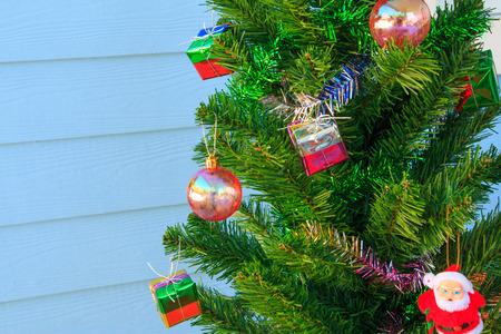 customs and celebrations: christmas decorations  on chrismas tree