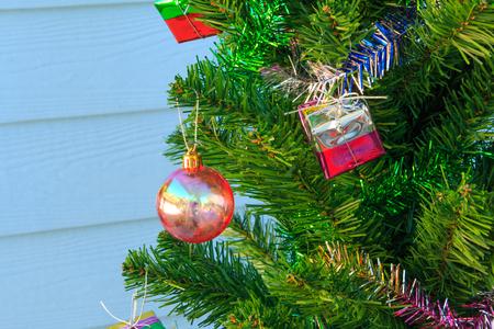 chrismas: christmas decorations  on chrismas tree