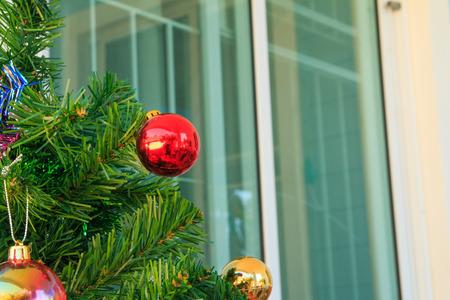 silhouettable: Christmas baubles on chrismas tree