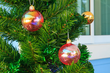 silhouettable: Christmas baubles on chrismas tree
