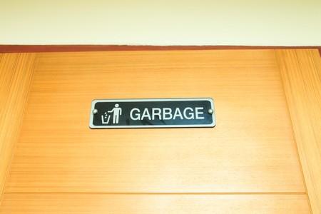 condo: Garbage sign in condo