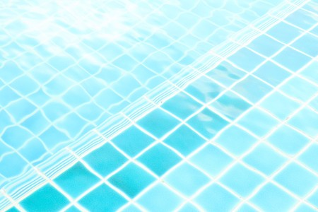 a refreshing blue swimming pool  in condominium Stock Photo