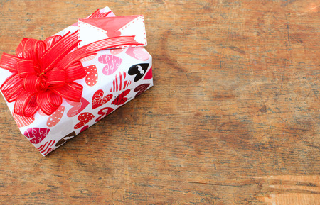 wrapped gift: Wrapped gift on Valentine day