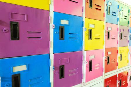 lockers: colorful school lockers