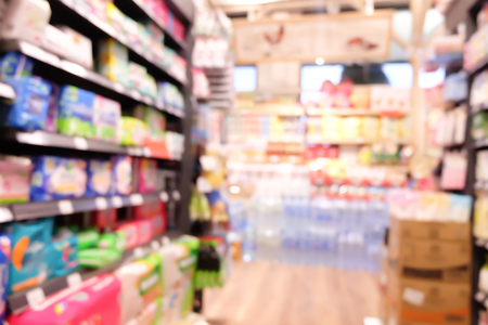 Abstract blurred supermarket Stock Photo