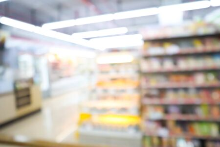 blur mage of supermarket and variety product for background usage. 写真素材