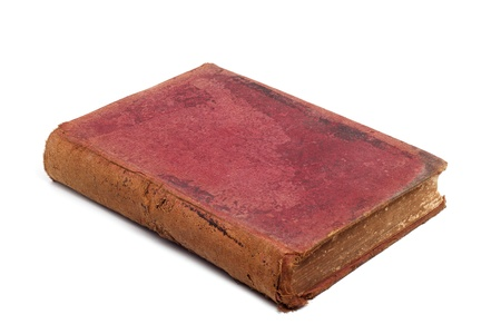 Old book isolated on a white background photo