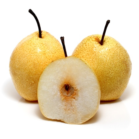 asian pear: A stock photo of a juicy Asian Pear ready for your design. The file includes a clipping path so it is easy to work with Stock Photo