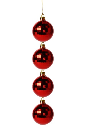 Four Christmas balls on white background,Creativity Stock Photo - 16741773