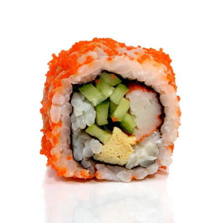 Roll Sushi isolated on white background Stock Photo - 16741791