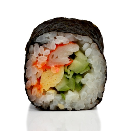 Sushi roll isolated on white background Stock Photo - 16741787
