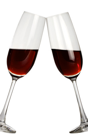 incidence:  Cheers! Clink glasses with red wine