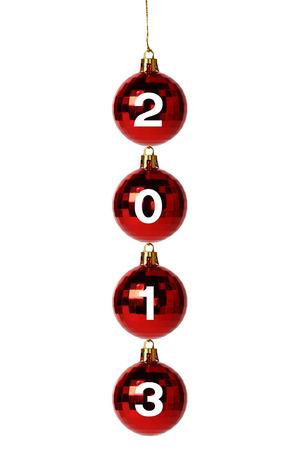 New Year 2013 Balls isolated on white background photo
