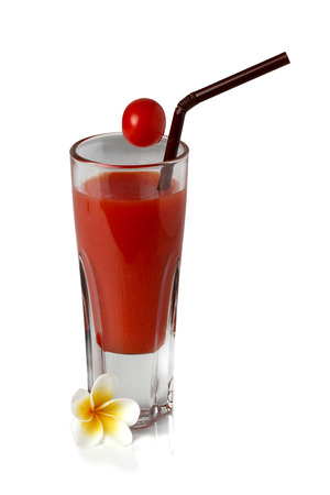 Pure tomato juice,isolated