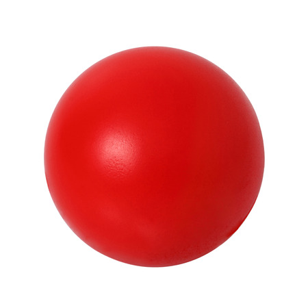 Red  ball on white background. Outline paths for easy outlining. Great for templates, icon background, interface buttons.