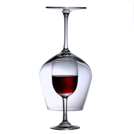 red wine and wine glasses Stock Photo
