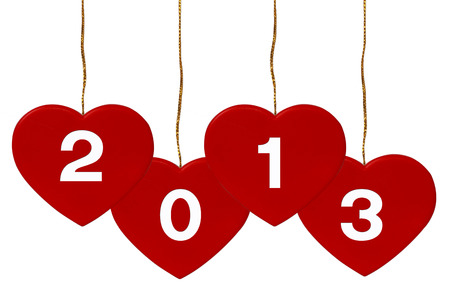 New Year 2013 Heart on white background photo