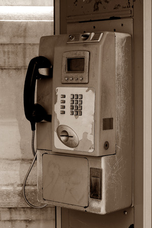 public coin-operated telephone_sepia