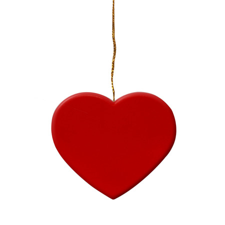 Red Hearts  isolate on white background Stock Photo