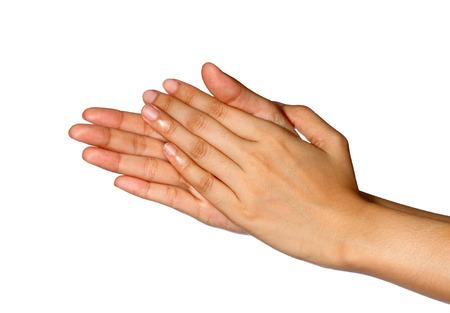 Recorta la vista de una mujer par de manos con las palmas se rozan entre sí Foto de archivo - 26440633