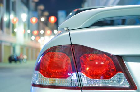 Car tail light Stock Photo
