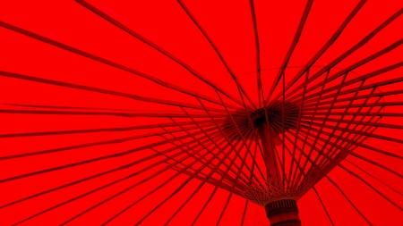 umbella: Red wooden umbella