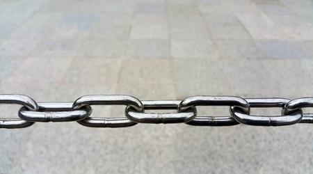 chain links: Metal chain links