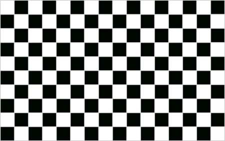 on white: Square Black and white checkered abstract background with grey border