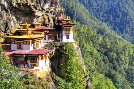 Taktshang Goemba of het nestklooster van de tijger, Paro, Bhutan.