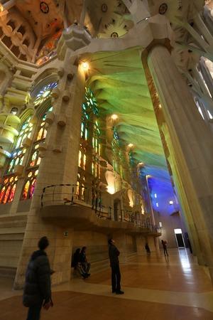 modernisme: Transept in Sagrada Familia