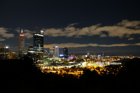 Perth Night View from Kingspark