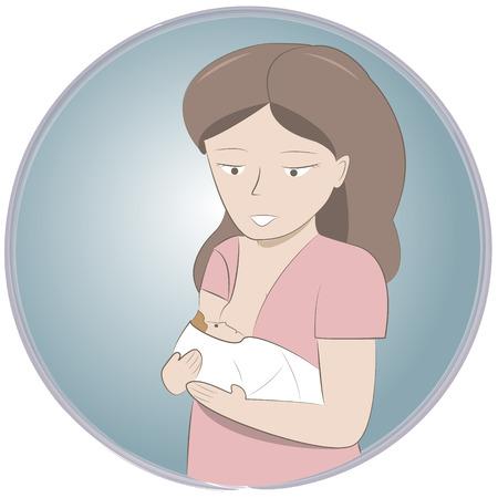 baby moeder: Afbeelding van de moeder haar baby borstvoeding