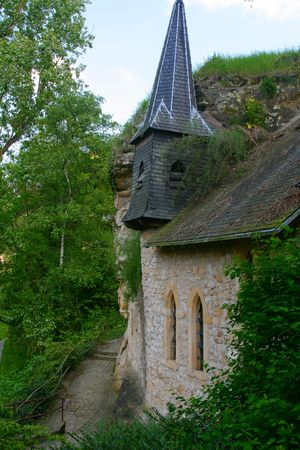 St Quirin Chapel in the old part of Luxembourg-City Stock Photo