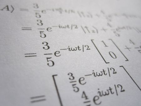 A page of mathematical calculations