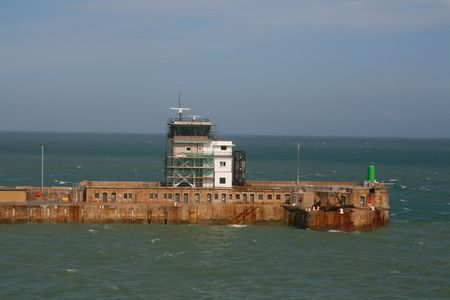 The harbour wall at Dover