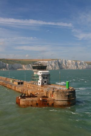 Passing the harbour wall at Dover Stock Photo - 5274075