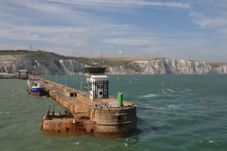 Passing the harbour wall at Dover Stock Photo - 5274076