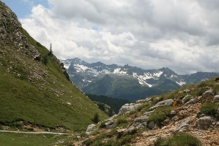 A view over the Swiss Alps, from the Ritom area