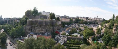 A panoramic view of Luxembourg-City