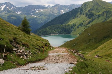 A path leading to Lago Ritom in the Swiss alps photo