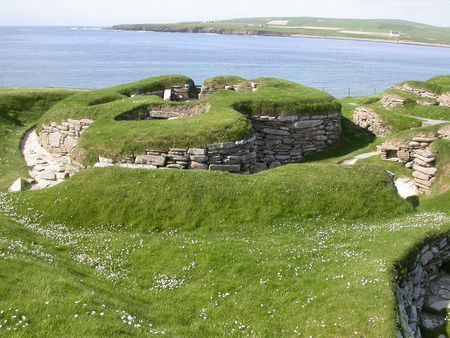 neolithic: Neolithic house in Scara Brae, Orkney Stock Photo