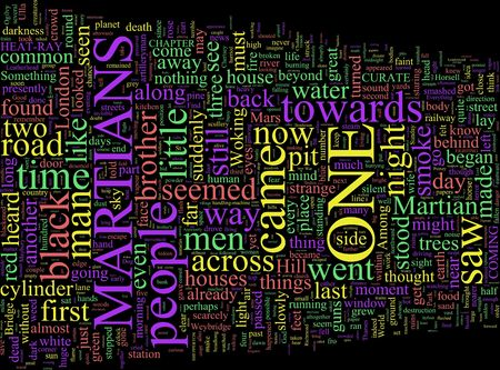 martians: A word cloud based on Wells War of the Worlds Stock Photo